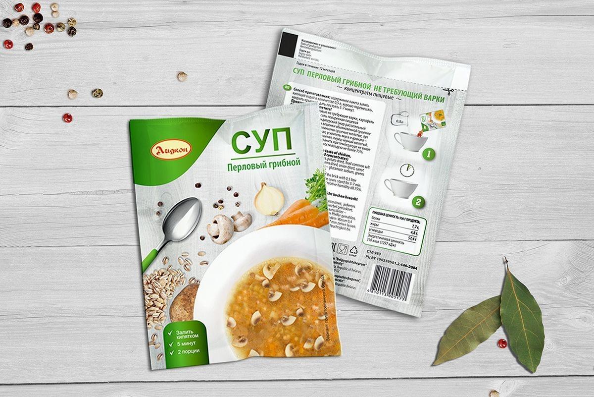 """Разработка концепции дизайна упаковки супов """"Лидкон"""""""