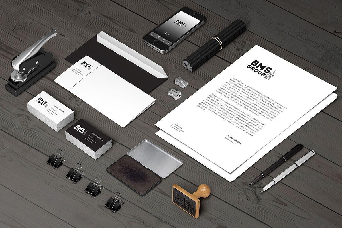 "Разработка логотипа и фирменного стиля компании ""BMS Group"""