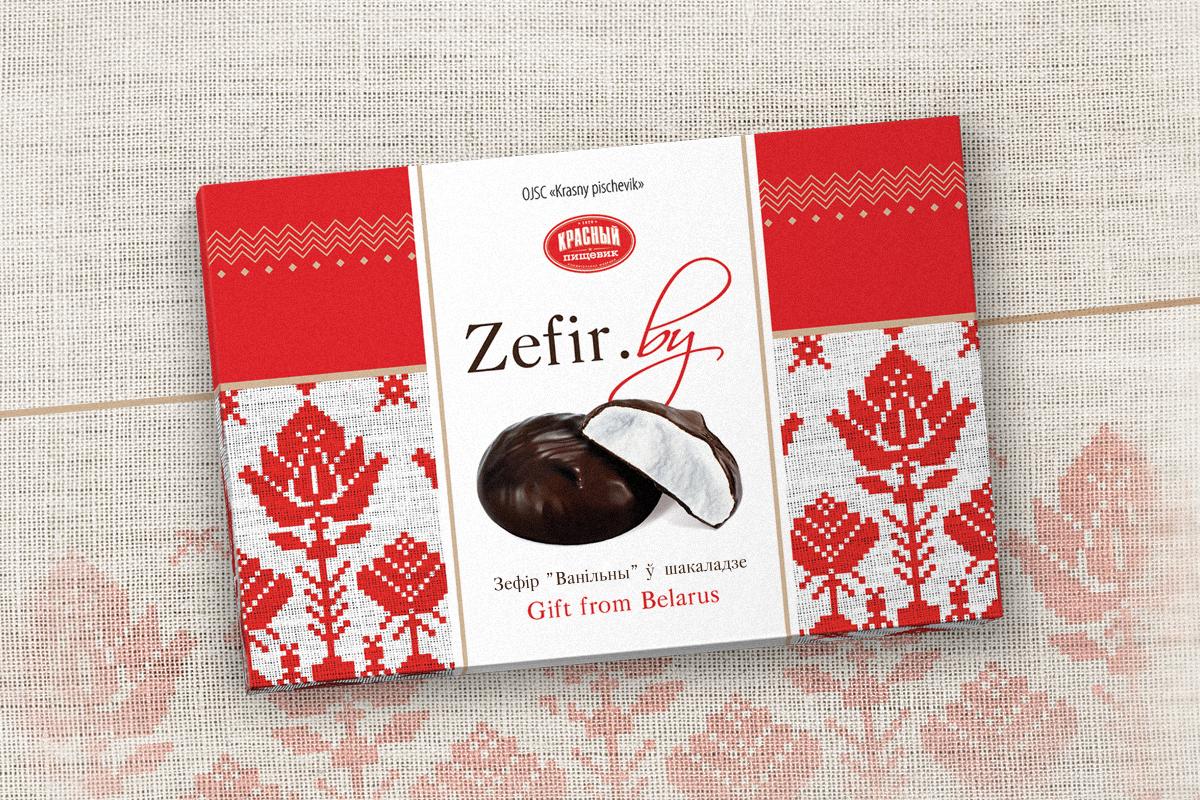"""Распрацоўка дызайну ўпакоўкі і лога """"Zefir.by"""""""