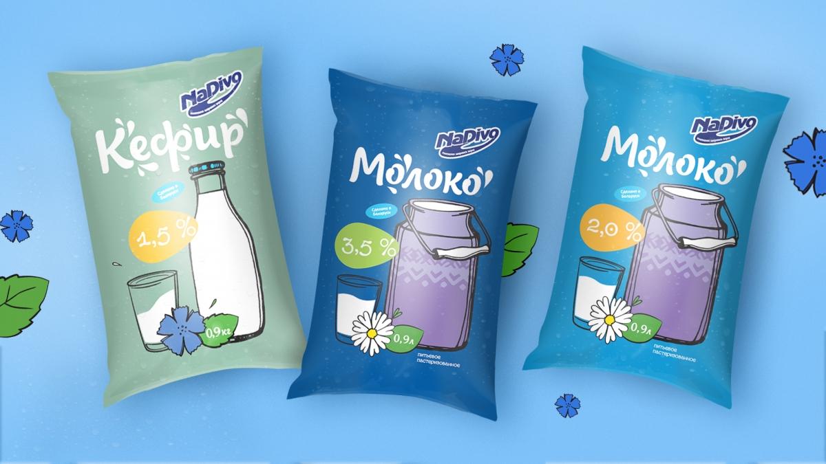 """Дизайна линейки молочной продукции ТМ """"NaDivo"""""""