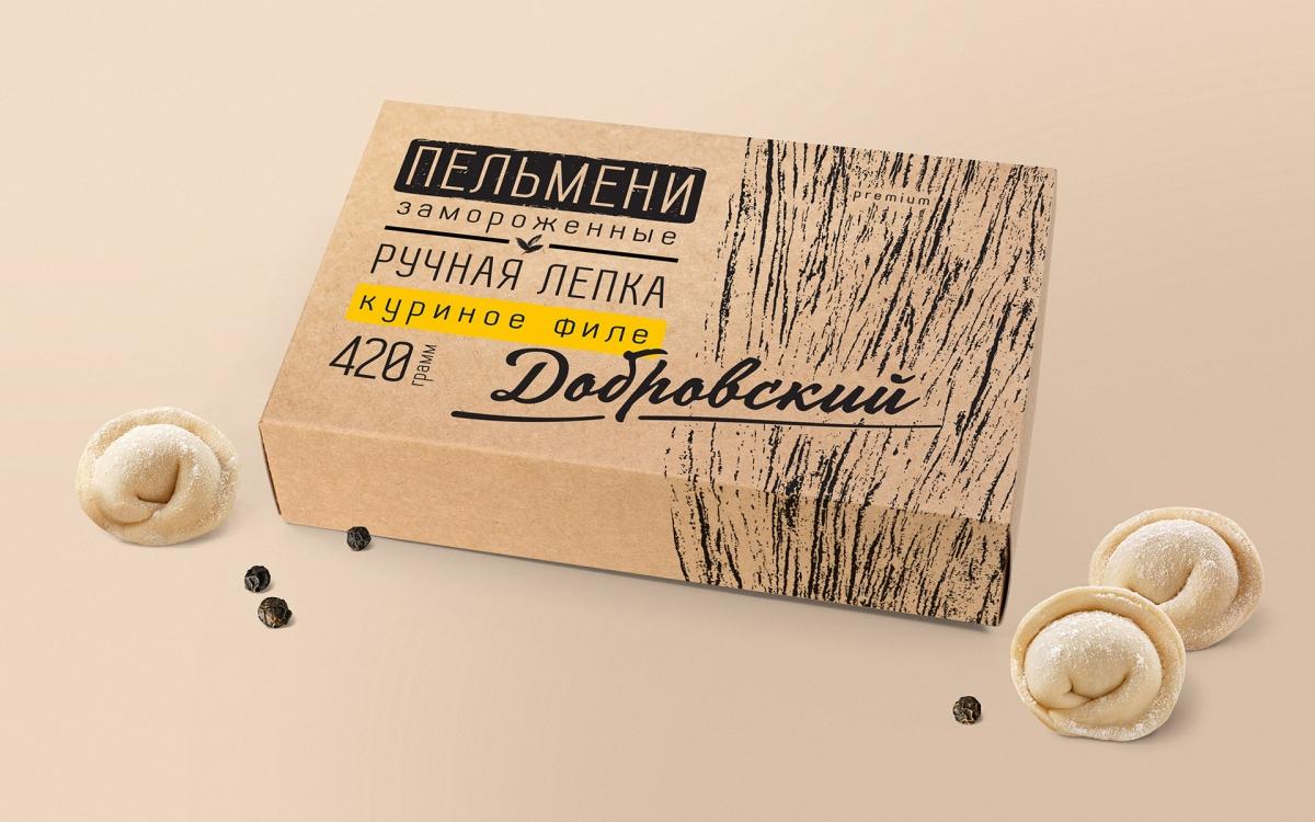 Дизайн упаковки пельменей ручной работы