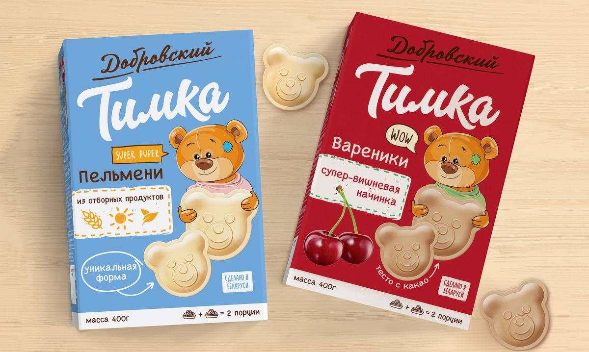 Дизайн упаковки детской линейки пельменей «Тимка»