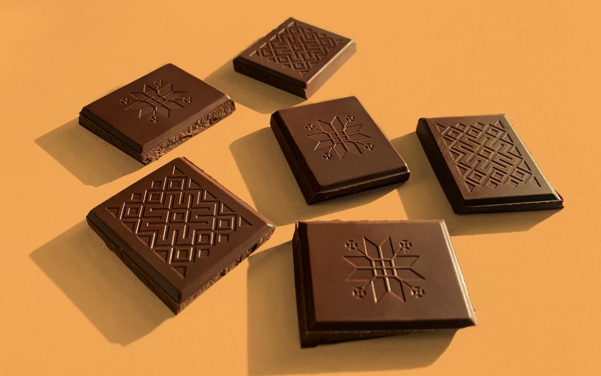 Дизайн плитки шоколада